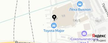 Лексус-Сокольники на карте Москвы