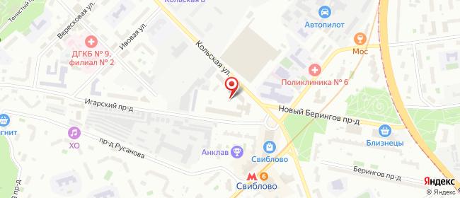 Карта расположения пункта доставки Москва Кольская в городе Москва