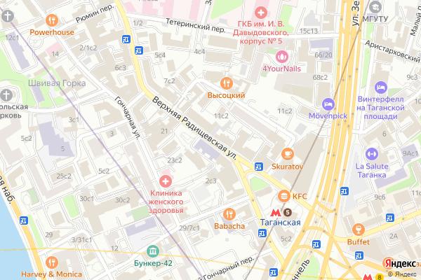 Ремонт телевизоров Улица Верхняя Радищевская на яндекс карте