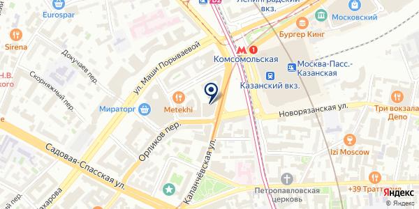 АКБ АКЦЕПТБАНК на карте Москве