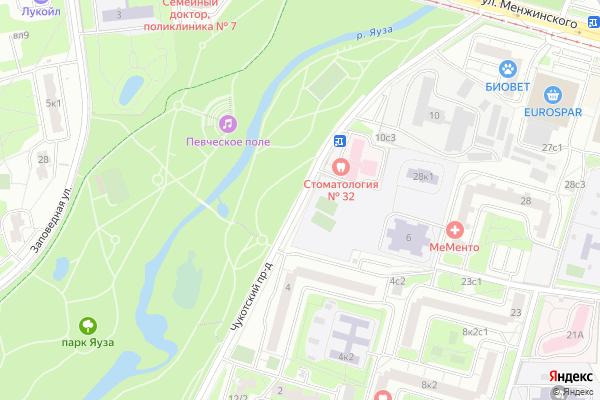 Ремонт телевизоров Чукотский проезд на яндекс карте