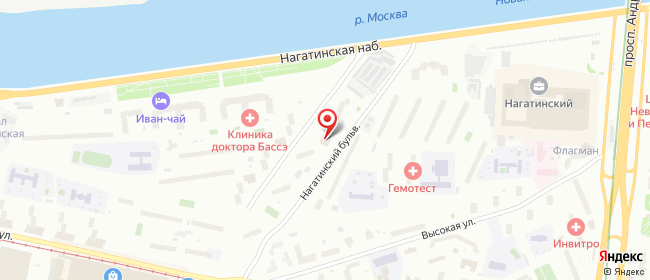 Карта расположения пункта доставки Москва Нагатинский в городе Москва