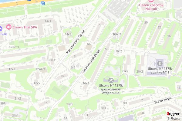 Ремонт телевизоров Нагатинский бульвар на яндекс карте