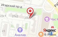 Схема проезда до компании Сфера-Оптил в Москве