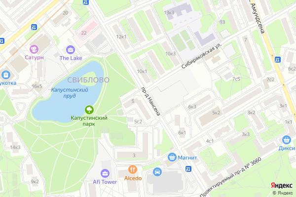 Ремонт телевизоров Нансена проезд на яндекс карте