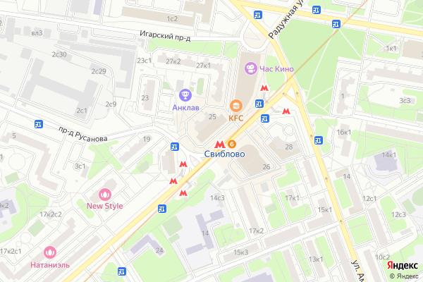 Ремонт телевизоров Метро Свиблово на яндекс карте