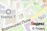 Схема проезда до компании КБ Новое время в Москве