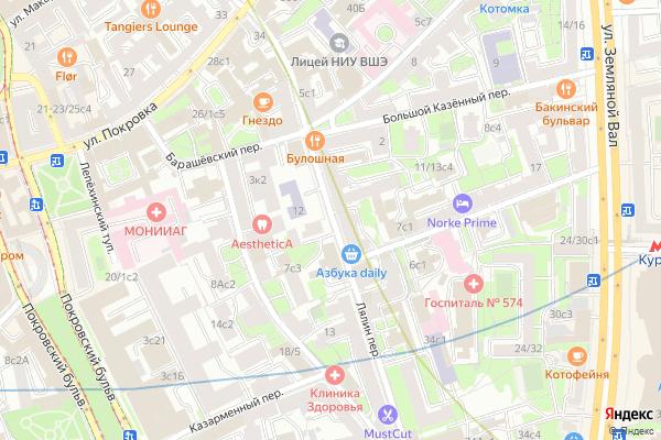 Ремонт телевизоров Лялин переулок на яндекс карте