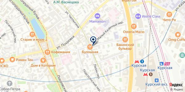 Общественный пункт охраны порядка Центрального административного округа на карте Москве