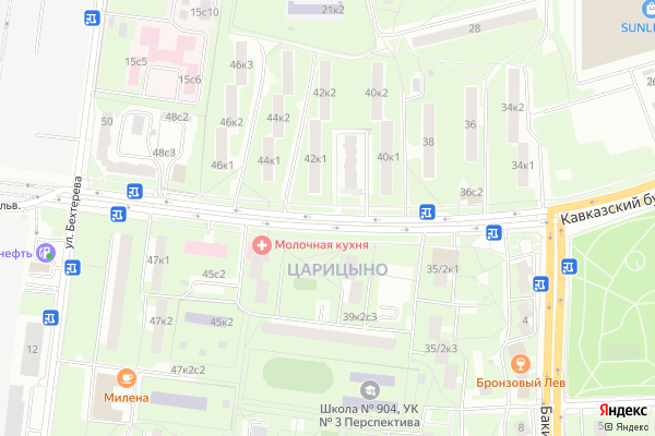 Ремонт телевизоров Кавказский бульвар на яндекс карте