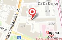 Схема проезда до компании Одеон-М в Москве