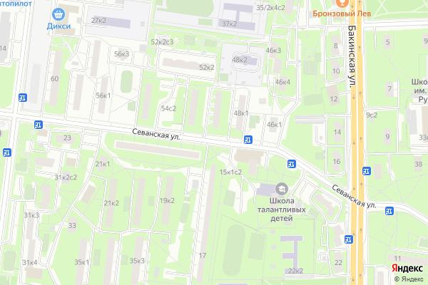 Ремонт телевизоров Улица Севанская на яндекс карте