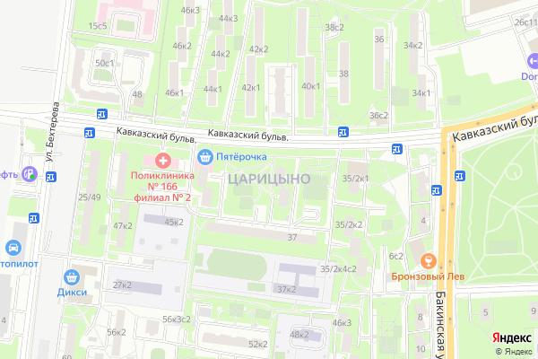 Ремонт телевизоров Район Царицыно на яндекс карте