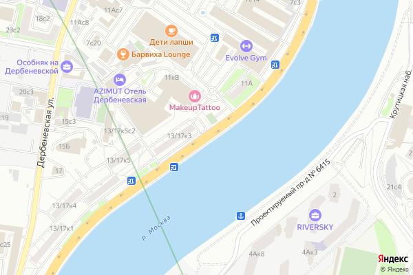 Ремонт телевизоров Дербеневская набережная на яндекс карте