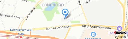 СПмебель на карте Москвы