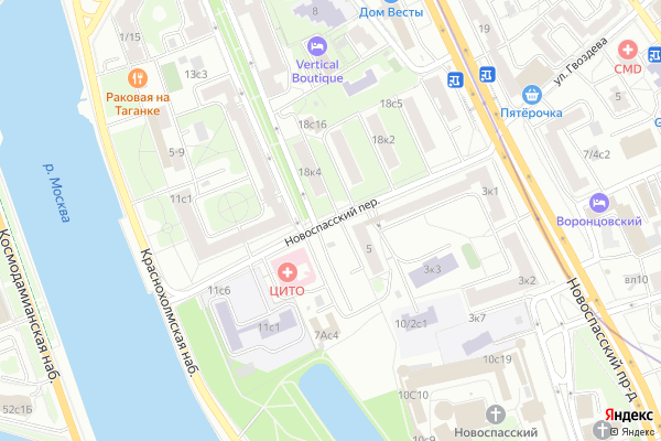 Ремонт телевизоров Новоспасский переулок на яндекс карте