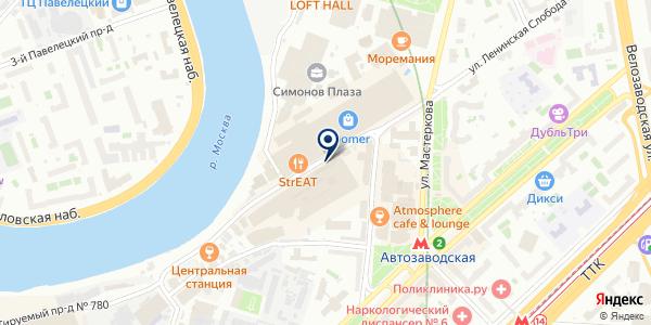 РКТО, ЗАО на карте Москве