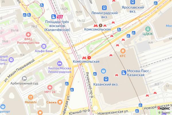 Ремонт телевизоров Метро Комсомольская на яндекс карте