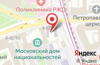 Схема проезда до компании Валена в Москве