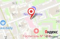 Схема проезда до компании Бенилюкс в Москве