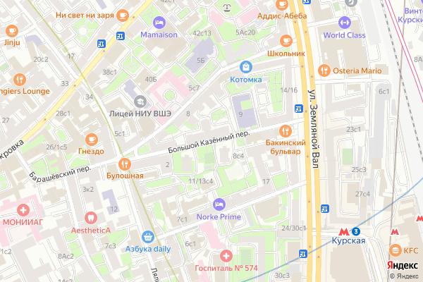 Ремонт телевизоров Большой Казенный переулок на яндекс карте