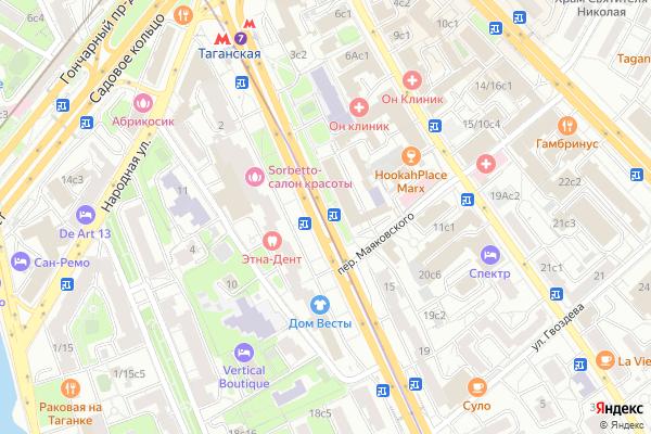 Ремонт телевизоров Улица Большие Каменщики на яндекс карте