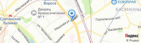Мегаполюс турс на карте Москвы