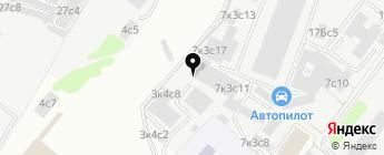 Питклуб на карте Москвы
