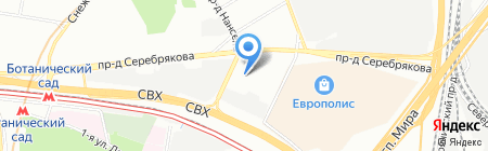 ЯРТЕК на карте Москвы