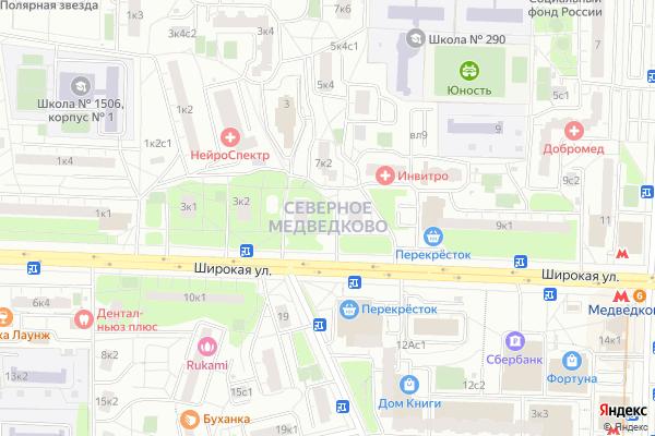 Ремонт телевизоров Район Медведково Северное на яндекс карте