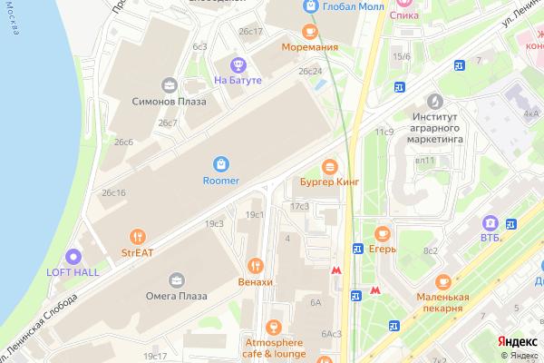Ремонт телевизоров Улица Ленинская Слобода на яндекс карте