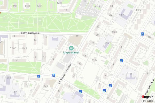Ремонт телевизоров Улица Константинова на яндекс карте