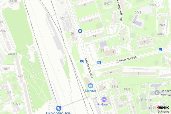 Ремонт телевизоров Улица Касимовская на яндекс карте