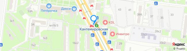 метро Кантемировская