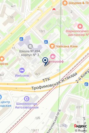 БАНКЕТНЫЙ ЗАЛ ЛА-МАНШ на карте Москвы