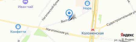 Марина на карте Москвы