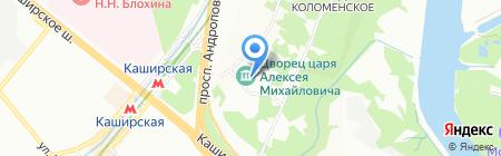 Коломенские сувениры на карте Москвы