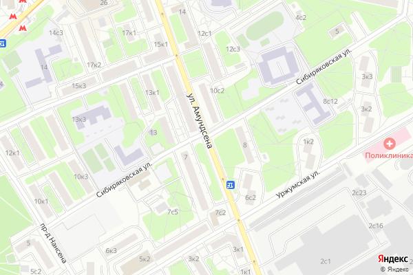 Ремонт телевизоров Улица Амундсена на яндекс карте