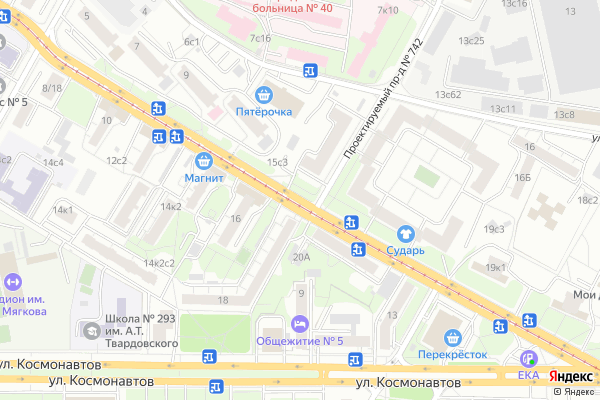 Ремонт телевизоров Улица Бориса Галушкина на яндекс карте