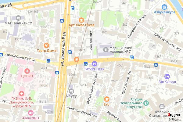 Ремонт телевизоров Улица Николоямская на яндекс карте