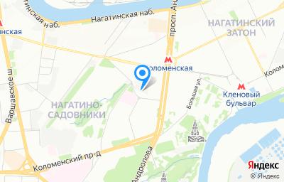 Местоположение на карте пункта техосмотра по адресу г Москва, ул Садовники, д 11А