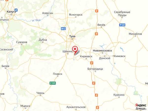 поселок Усть-Колпна на карте