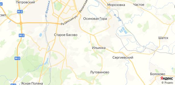 Малая Еловая на карте