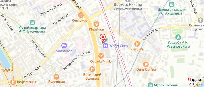 Карта расположения пункта доставки Москва Земляной в городе Москва