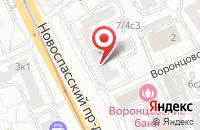 Схема проезда до компании Инданс в Москве