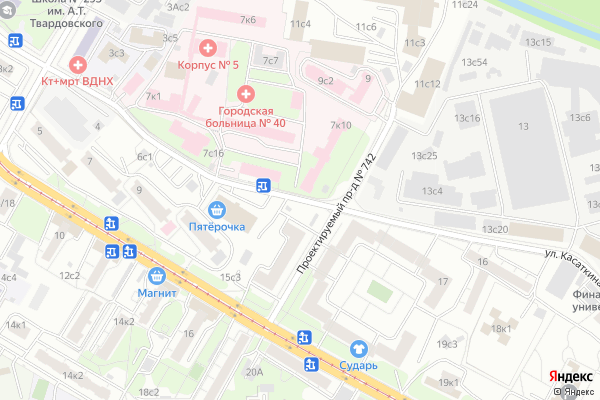 Ремонт телевизоров Улица Касаткина на яндекс карте