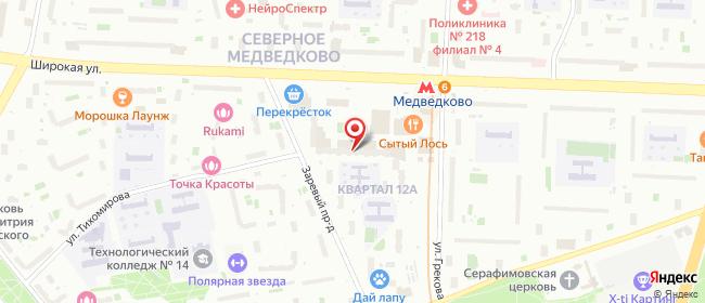 Карта расположения пункта доставки Москва Заревый в городе Москва