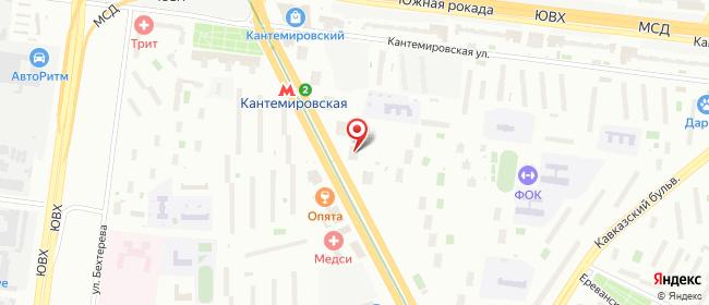 Карта расположения пункта доставки Москва Пролетарский в городе Москва