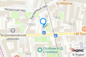 Снять однокомнатную квартиру в Москве м. Красные ворота, Новая Басманная улица д.15, кв.7.