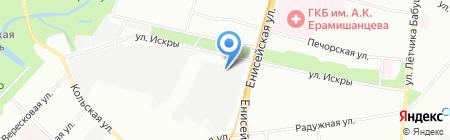 Линия на карте Москвы